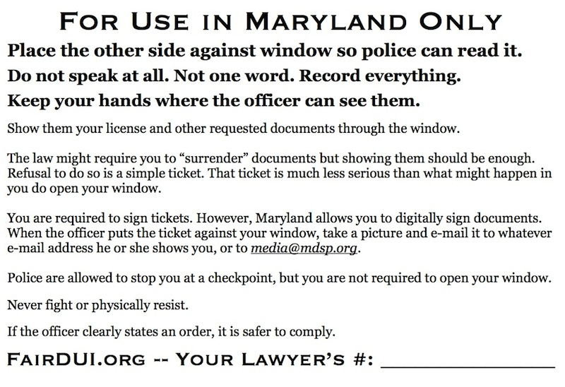 Fair DUI Flyer-Maryland-back