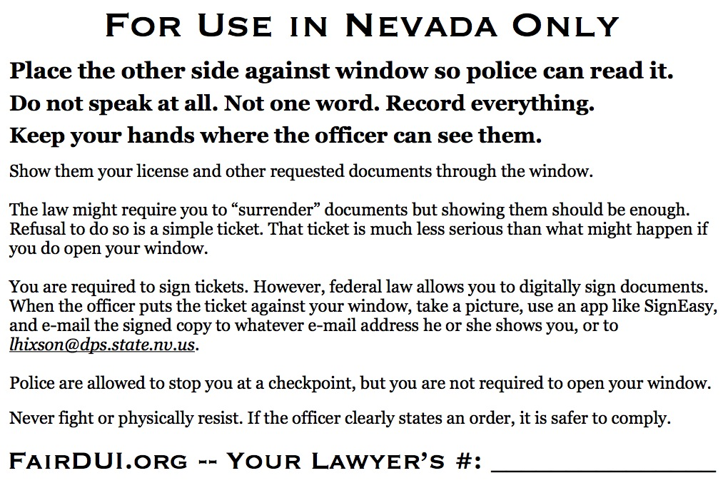 Fair DUI Flyer-Nevada-back