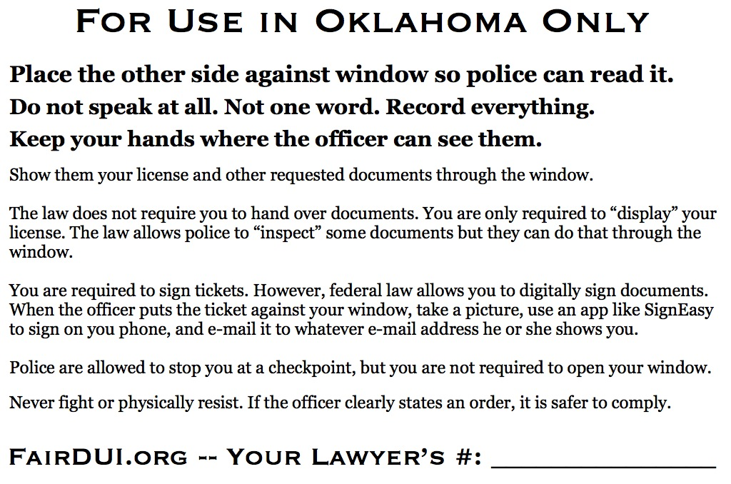 Fair DUI Flyer-Oklahoma-back